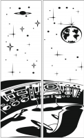 Пескоструйные рисунки Космос №13