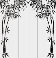Бамбук в векторе №13