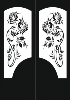 Пескоструйный рисунок на двери №13