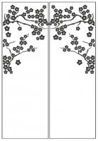 Пескоструйный рисунок дерева №136