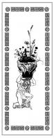 Пескоструйный рисунок ваза 13