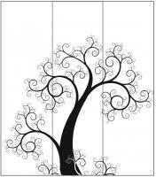 Пескоструйный рисунок дерева №140