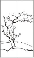 Пескоструйный рисунок дерева №142