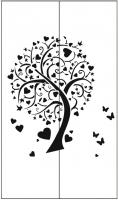 Пескоструйный рисунок дерева №143