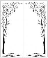 Пескоструйный рисунок дерева №149