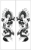 Пескоструйный рисунок Дракон №15