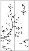 Пескоструйный рисунок дерева №151