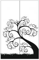 Пескоструйный рисунок дерева №152