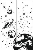 Пескоструйные рисунки Космос №15