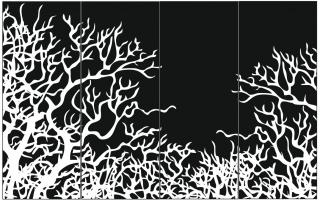 Пескоструйный рисунок дерева №154