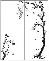 Пескоструйный рисунок дерева №155