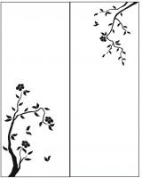 Пескоструйный рисунок дерева №157