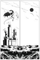 Пескоструйный рисунок Дракон №16