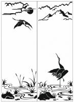Пескоструйный рисунок птицы №162