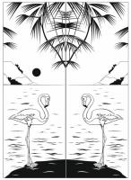 Пескоструйный рисунок птицы №163