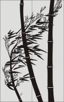 Бамбук в векторе №16
