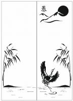 Пескоструйный рисунок птицы №164