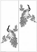 Пескоструйный рисунок птицы №165