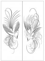 Пескоструйный рисунок птицы №166