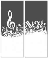 Пескоструйный рисунок Ноты №16