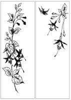 Пескоструйный рисунок птицы №169