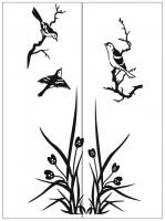 Пескоструйный рисунок птицы №170