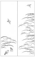 Пескоструйный рисунок птицы №171