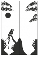 Пескоструйный рисунок птицы №174