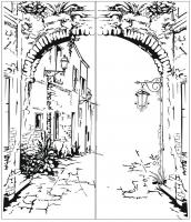 Пескоструйный рисунок Улица  №174