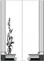 Пескоструйный рисунок ваза 17
