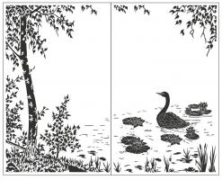 Пескоструйный рисунок птицы №176