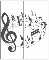 Пескоструйный рисунок Ноты №17