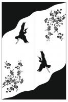 Пескоструйный рисунок птицы №178