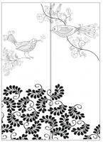 Пескоструйный рисунок птицы №179