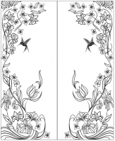 Калибри и цветы №18