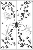 Пескоструйный рисунок птицы №180