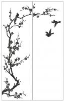 Пескоструйный рисунок птицы №181