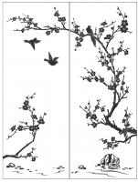 Пескоструйный рисунок птицы №182