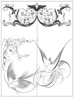 Пескоструйный рисунок птицы №187