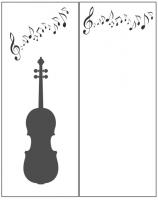 Пескоструйный рисунок Скрипка №18