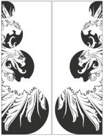 Пескоструйный рисунок птицы №188