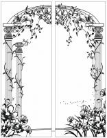 Пескоструйный рисунок Колонны №18
