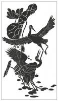 Пескоструйный рисунок птицы №189
