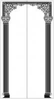 Пескоструйный рисунок Колонны №19