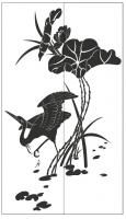 Пескоструйный рисунок птицы №190