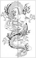 Пескоструйный рисунок Дракон №19