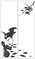 Пескоструйный рисунок птицы №191