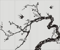 Сакура и птицы №20
