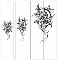 Пескоструйный рисунок Дракон №20