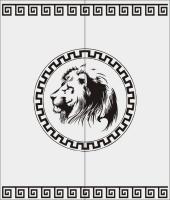 Шаблон  льва №2